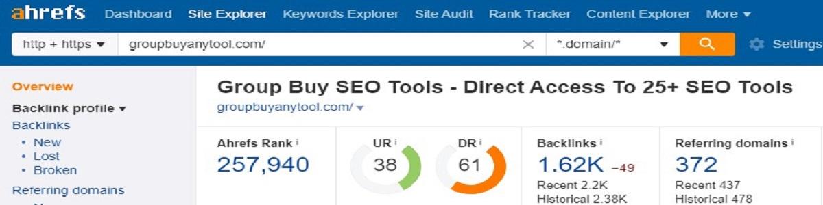 Ahrefs Group Buy Site Explorer